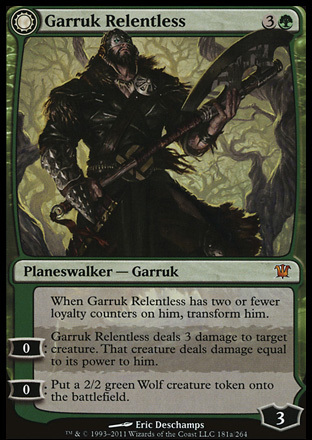 Garruk Relentless // Garruk, the Veil-Cursed