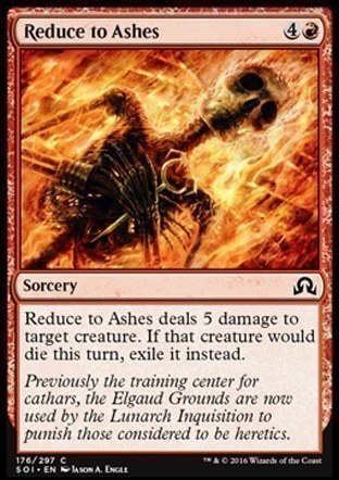 Reduce to Ashes