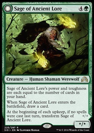 Sage of Ancient Lore \\ Werewolf of Ancient Hunger