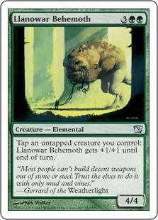 Лановарский бегемот (Llanowar Behemoth)