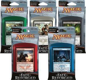 MTG: 5 начальных наборов издания Fate Reforged
