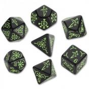 Набор кубиков «Ingress Dice Set: Enlightened» (d4, d6, d8, d10, d12, d20, d100)