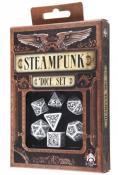 Набор кубиков «Steampunk» (d4, d6, d8, d10, d12, d20, d100) бело-черного цвета