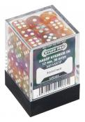 Набор кубиков STUFF PRO D6 под мрамор. Золотые 12мм 36 шт