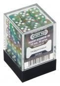 Набор кубиков STUFF PRO D6 под мрамор. Нефритовые 12мм 36 шт