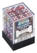 Набор кубиков STUFF PRO D6 под мрамор. Блестящие красные 12мм 36 шт
