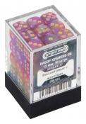 Набор кубиков STUFF PRO D6 под мрамор. Фиолетовые с золотым 12мм 36 шт