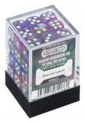 Набор кубиков STUFF PRO D6 под мрамор. Фиолетовые с белым 12мм 36 шт