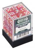 Набор кубиков STUFF PRO D6 под мрамор. Красные 12мм 36 шт