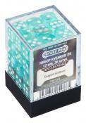 Набор кубиков STUFF PRO D6. Прозрачные бирюзовые 12мм 36 шт