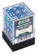 Набор кубиков STUFF PRO D6 под мрамор. Голубые 12мм 36 шт