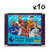 10 пакетиков наклеек Panini Premier League 2021