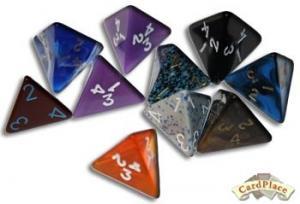 4-гранный кубик пирамида 15мм (d4) драгоценный камень 8-ми цветов