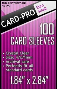 Прозрачные протекторы Card-Pro Euro Small для настольных игр (100 шт.) 47х71 мм