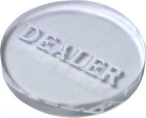 Кнопка дилера - большая прозрачная