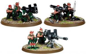 Катачанское Отделение Тяжелого Вооружения Имперской Гвардии (Imperial Guard Catachan Heavy Weapon Squad)