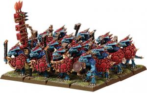 Seraphon/Lizardmen Saurus Warrior Regiment