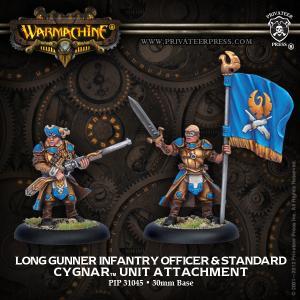 Cygnar: Long Gunner Infantry Officer & Standard