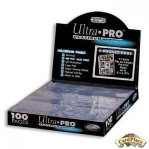 100 листов для альбома Ultra-Pro Platinum (3х3) универсальные (11 отверстий)