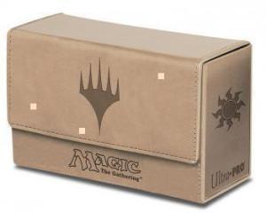 Dual Flip Deck Box - Magic Mana - White