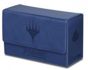 Dual Flip Deck Box - Magic Mana - Blue