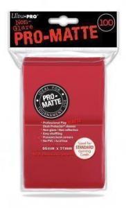 Цветные протекторы Ultra-Pro - Красные матовые (100 шт.)