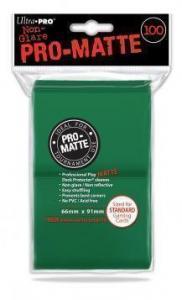 Цветные протекторы Ultra-Pro - Зеленые матовые (100 шт.)