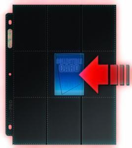 50 черных листов Ultra-Pro (3х3) - 3 отверстия