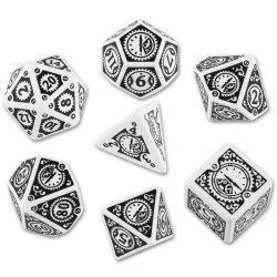 Набор кубиков «Steampunk Clockwork» (d4, d6, d8, d10, d12, d20, d100) бело-черного цвета