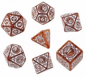 Набор кубиков «Caramel & White Steampunk Clockwork» (d4, d6, d8, d10, d12, d20, d100)