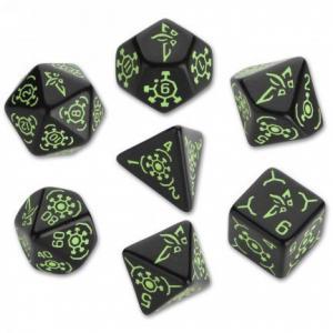 Набор кубиков «Ingress Dice Set: Enlightened» (d4, d6, d8, d10, d12, d20, d100)