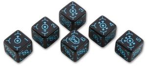 Набор кубиков «Ingress 6D6 Dice Set: Resistance» (6d6)