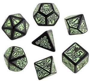 Набор кубиков «Black & Green Call of Cthulhu 7th edition» (d4, d6, d8, d10, d12, d20, d100)