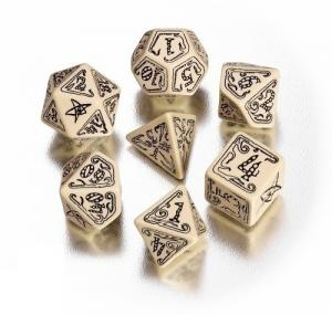 Набор кубиков «Call of Cthulhu Beige/Black» (d4, d6, d8, d10, d12, d20, d100)