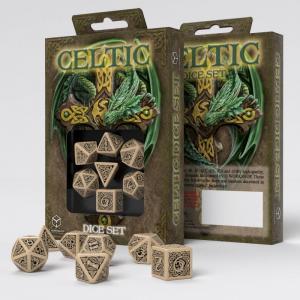 Набор кубиков «CELTIC 3D DICE» бежевый