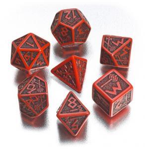 Набор кубиков «DWARVEN DICE» красный