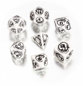 Набор кубиков «DRAGON DICE» белый