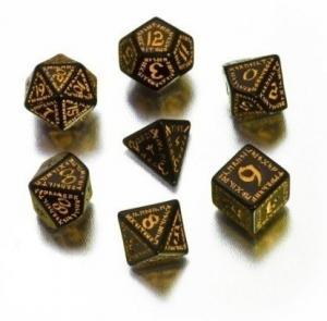 Набор кубиков «RUNIC DICE» черно-желтый