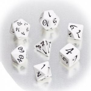 Набор кубиков «CLASSIC DICE» белый
