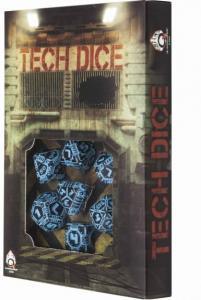 Набор кубиков «TECH DICE Black & Blue» (d4, d6, d8, d10, d12, d20, d100)