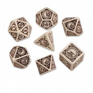 Набор кубиков «Steampunk Clockwork Beige & Brown» (d4, d6, d8, d10, d12, d20, d100)