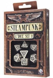 Набор кубиков «Steampunk Beige & Black» (d4, d6, d8, d10, d12, d20, d100)