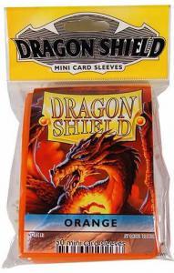 Протекторы Dragon Shield оранжевые уменьшенного размера (50 шт.)