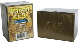 Пластиковая коробочка Dragon Shield золотая