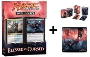 MTG: Дуэльный набор «Blessed vs. Cursed» + коробочка + игровое поле