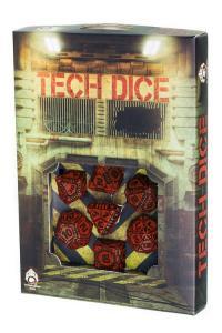 Набор кубиков «TECH DICE Red & Black» (d4, d6, d8, d10, d12, d20, d100)