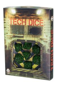 Набор кубиков «TECH DICE Green & Black» (d4, d6, d8, d10, d12, d20, d100)