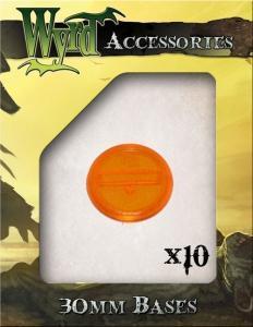 Malifaux: Orange 30mm Translucent Bases