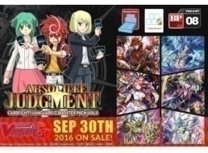 Cardfight!! Vanguard G: Бустер издания Vol.8 Absolute Judgment на английском языке