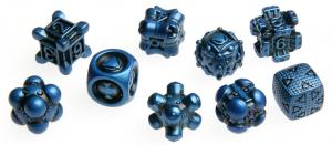 Irondie The Game - 9-Dice Basic Set - Unlimited blue
